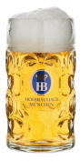 German Beer Mug Munich Hofbräuhaus München HB glass mug 0.5 litre King Werk KI 1000062