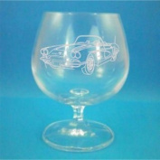 Bohemia Crystal Brandy Glass With 1960 Chevrolet Corvette Design - Includes Engraving up to 30 Characters
