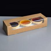BROWN Kraft Double Stack Mince Pie Box 9x3x2