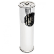 Relaxdays 52 cm Stainless Steel Standing Ashtray, Silver