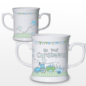 Whimsical Train Christening Loving Mug Keepsake Novelty Cup Present Gift Coffee Tea