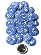 Jw.org 3.8cm Pin Back Buttons - Pack of 25