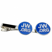 Jw.org Silver Colour Necktie Clip and Lapel Pin Gift Set