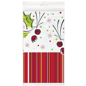 Holly Pop Christmas Party Plastic Tablecover