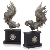 Modern Day Accents Gallos Pelea Rooster Bookend Pair by Modern Day Accents
