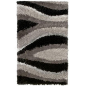 Flume Black Taupe 0.3m x 0.9m Accent Rug