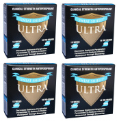 Sweat Shield Ultra Antiperspirant (4 Pack) - Clinical Strength - Reduce Sweat Up To 7-Days Per Use (40 Antiperspirant Wipes) 10 Months Supply. Dermatologist Recommended. As Seen On Oprah.
