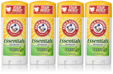 Arm & Hammer Essentials Deodorant, Fresh, 70ml/pack, 4 pack