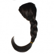 Abwin Darkest Brown Braided Clip in Bangs