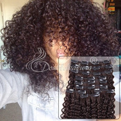 Unprocessed Brazilian Hair Virgin Kinky Curly Clip in Natural Colour 6a Human Hair Clip in Hair Extensions 9pcs/set 12-60cm