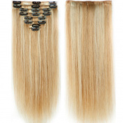 130g-160g 41cm 46cm 50cm 60cm True Double Weft Thick Full Head Set Clip in 100% Remy Human Hair Extensions Top Grade 7A 8 Pieces 18 Clips