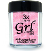 Grl Cosmetics Cosmetic Glitter Makeup for Face, Eyes, Lips, Nails and Body - GL29 Ballerina, 12 Gramme Jar