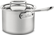All-Clad BD55202 d5 Brushed Stainless Steel 5-Ply Bonded Dishwasher Safe 1.9l Sauce Pan Cookware, Silver