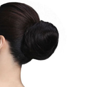Women's Synthetic Scrunchie Hair Bun Cover Hairpiece Clip in Hair Extension
