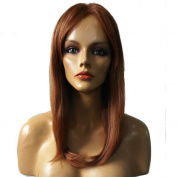 Namecute Gold Brown Long Straight Blonde Wigs