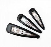 Yueton® 3 Dozens 36pcs Glossy Black Snap Prong Clips Bendy Hair Clips Barrettes for Ladies Girls Hair Bows