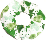 Shamrocks St Patricks Day Cotton Fabric Hair Scrunchie Handmade by Scrunchies by Sherry