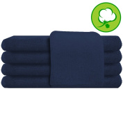 Navy Blue Salon Towel 100% Cotton 41cm x 70cm . Hand Towel - 6 DOZEN