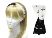 Uni-k Cross Printe Turban and Ribbon Head Band Selection