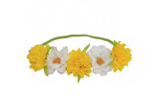 HH Building Blooming Wild Camellia Flower Crown Headband Garland Halo floral wreath Elastic Head Bands Hair Accessories