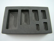 1/4-1/2-1-2-5-300ml High Density Graphite Gold Bar Mould 6-Cavities-Silver Copper
