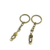 30 PCS Keyrings Keychains Key Ring Chains Tags Jewellery Findings Clasps Buckles Supplies W5HV4 Slippers