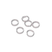 7mm Double Rings - Sterling Silver Plated/Bright Silver