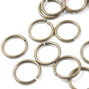 TierraCast Round 18 Gauge Open Jump Ring-BRASS OXIDE 10mm