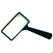 LARGE 4x RECTANGLE MAGNIFYING GLASS NEW 10cm x 5.1cm MAGNIFIER