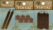 12 Vintaj Altered Blanks. You Get 2 Tall Tags 67x7.5mm (P0517), 4 Tags 41x8.5mm (P0518), 6 Small Tags 9mm (DP002). DecoEmboss, DecoEtch, Metal Stamping, Jewellery Making