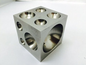 Dapping Block with Polished Steel cavities 5.1cm x 5.1cm x 5.1cm