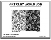 Art Clay World USA Low Relief Texture Paisley - 1 Pc.