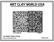 Art Clay World USA Low Relief Texture Flourish - 1 Pc.