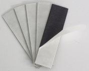 2.5cm x 10cm 60 mil Magnetic Adhesive Strips - 10 Pack - Thick Magnet