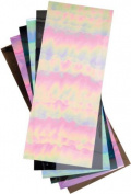 Elizabeth Craft Designs Mylar Shimmer Adhesive Sheets, 13cm by 30cm , Black Iris, 3 Per Package by ELIZABETH CRAFT DESIGNS