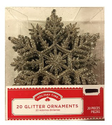 Holiday Time 20 Glitter Ornaments