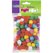 Creativity Street Glitter Poms 1.3cm 80-Piece Assorted by Creativity Street