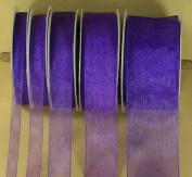 PURPLE Plain Organza Nylon Ribbon 25 Yards Choose Size 0.6cm , 1cm , 1.6cm , 2.2cm , 2.5cm - 1.3cm Trim & Embellishments Ribbon