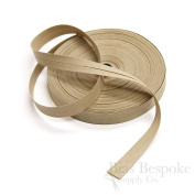 100% Cotton Tan Double Fold Bias Tape, 27 Yard Roll, Made in Italy