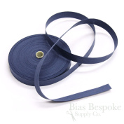 100% Cotton Classic Blue Double Fold Bias Tape, 27 Yard Roll, Made in Italy