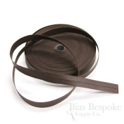 100% Cotton Dark Brown Double Fold Bias Tape, 27 Yard Roll, Made in Italy