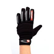 FKG-02 Fit linebacker football gloves, LB, RB, TE, Black, barnett