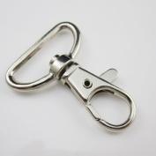 "30 Pcs 1.25"" 32mm Swivel Clip Snap Hook Trigger Webbing bag lanyard SC1AA32 Nickle"
