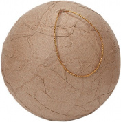 Paper Mache Wrinkled Ball Ornament-8cm by Notions - In Network