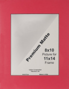 Photo Mat 28cm x 36cm Single Hand-Cut W/Bevel Edge-Cranberry (Red) W/Black Core