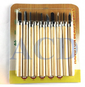 10 Piece Wood Carving Carvers hand woodworkers woodworking Chisel knife Tool Set