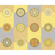 Desert Moon Gold Medallions Cotton Quilt Fabric Lonni Rossi