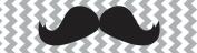 2.2cm Moustache Chevron 2.7m Spool Decorative Ribbon - Perfect for Any Occasion!
