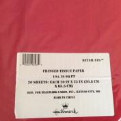 Hallmark Fringed Gift Bag Tissue Paper Red 30 Sheets