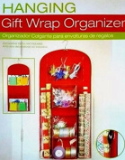 Holiday Hanging Gift Wrap Organiser, Suspends From Any Closet Rod or Hook, Multiple Clear Pockets